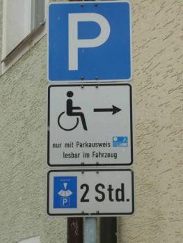 Бесплатная парковка, ограниченная по времени