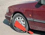 блокировка колес на парковке