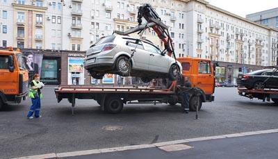нарушение правил парковки эвакуация
