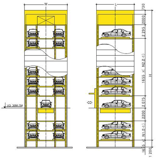 Автоматизированная парковка ELEVATOR