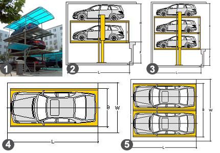 Независимые автомобильные лифты-подъемники MANYPARK